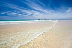 Aperfeiçoe a praia Foto de Stock Royalty Free