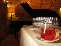 Aperitif. Cocktail aperitif in a restaurant with piano stock images