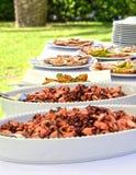 Aperitif-Buffet - Hochzeit stockbild