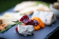 Aperitif des Käses und der Frucht Stockfotos
