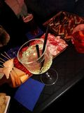 Aperitif with friends. Aperitif friends bar food stock photos
