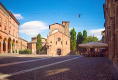 Aperitif im Heiligen Stefano Bologna Stockbild