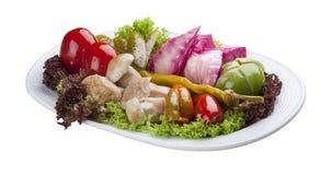 Aperitif von selbst gemachten Gemüseessiggurken lizenzfreie stockbilder