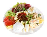 Aperitifnahrung, Salat Stockfotos