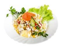 Aperitifnahrung, Salat Stockfotografie