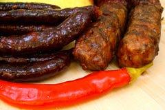 Aperitifwurst und -grill Stockfotos