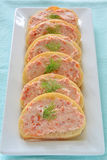 Aperitivi del formaggio cremoso del salmone affumicato Immagine Stock