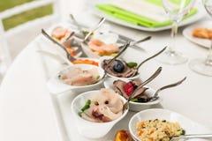 Aperitivi di color salmone marinati Fotografie Stock Libere da Diritti