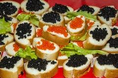 Aperitivo com caviar fotografia de stock