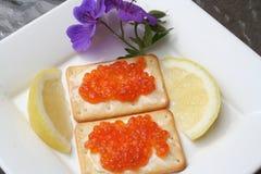 Aperitivo com caviar do russo Imagens de Stock Royalty Free