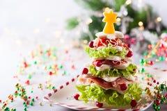 Aperitivo da árvore de Natal fotografia de stock royalty free
