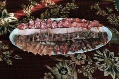 Aperitivo da carne para a tabela festiva Fotografia de Stock Royalty Free