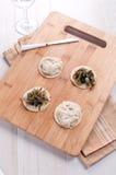 Aperitivo da salada da alga e do marisco do forshmak Imagem de Stock Royalty Free