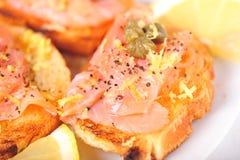 Aperitivo de color salmón Foto de archivo libre de regalías