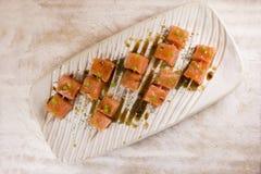 Aperitivo de color salmón Imagen de archivo libre de regalías