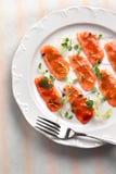 Aperitivo de color salmón Imágenes de archivo libres de regalías