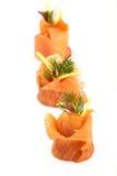 Aperitivo de color salmón fumado Imágenes de archivo libres de regalías