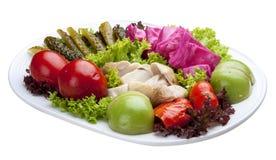 Aperitivo de salmouras vegetais caseiros imagem de stock royalty free