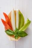 Aperitivo de verduras crudas foto de archivo libre de regalías