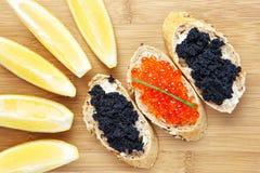 Aperitivo del caviar Fotografía de archivo libre de regalías