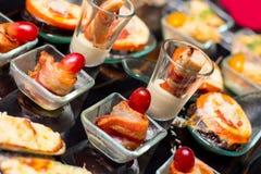 Aperitivo del comida para comer con los dedos Imagen de archivo