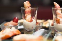 Aperitivo del comida para comer con los dedos Fotos de archivo