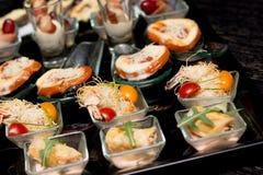Aperitivo del comida para comer con los dedos Imagen de archivo libre de regalías
