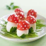 Aperitivo del tomate y del huevo Imagen de archivo libre de regalías