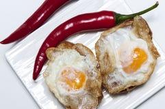 Aperitivo dell'uovo di quaglia fritto Fotografia Stock Libera da Diritti
