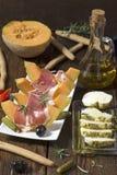 Aperitivo di prosciutto di Parma immagini stock
