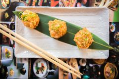 Aperitivo do marisco no estilo japonês Fotos de Stock