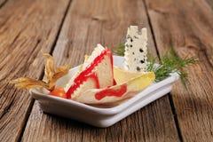 Aperitivo do queijo imagens de stock