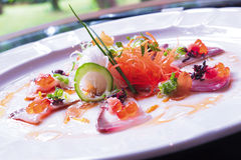 aperitivo dos peixes crus Fotografia de Stock Royalty Free