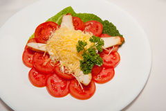 Aperitivo, ensalada, comida sabrosa, apetito fotografía de archivo