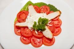 Aperitivo, ensalada, comida sabrosa, apetito foto de archivo libre de regalías