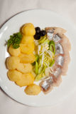 Aperitivo, ensalada, comida sabrosa, apetito foto de archivo