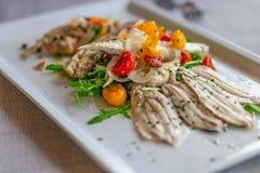 Aperitivo italiano de sardinhas postas de conserva saborosos fotografia de stock royalty free