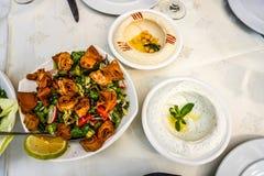 Aperitivo libanés 02 de la cocina fotos de archivo