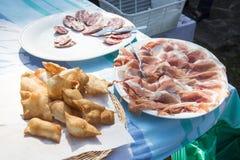 Aperitivo tipico del parmigiano Immagini Stock