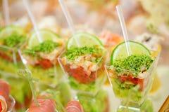 Aperitivos, alimento gourmet Fotos de Stock Royalty Free