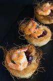 Aperitivos con los camarones Foto de archivo