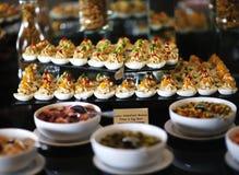 Aperitivos da salada do ovo Imagens de Stock Royalty Free