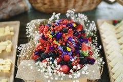 Aperitivos de las ideas de la comida de la boda imagenes de archivo
