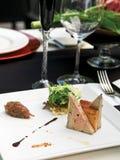 Aperitivos de los gras de Foie imagenes de archivo