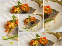 Aperitivos deliciosos de los mariscos - plato del abastecimiento Fotografía de archivo