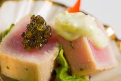 Aperitivos deliciosos de los mariscos - plato del abastecimiento Imágenes de archivo libres de regalías