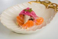 Aperitivos deliciosos de los mariscos - plato del abastecimiento Imagen de archivo libre de regalías