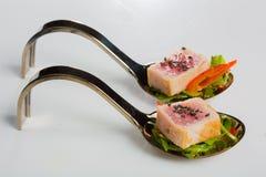 Aperitivos deliciosos de los mariscos - plato del abastecimiento Foto de archivo