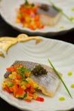 Aperitivos deliciosos de los mariscos - plato del abastecimiento Fotografía de archivo libre de regalías