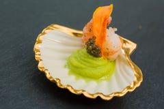 Aperitivos deliciosos de los mariscos - plato del abastecimiento Imagen de archivo